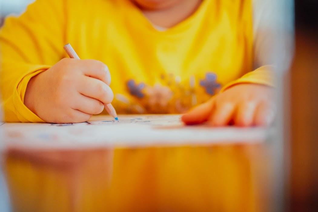 nursery child writing