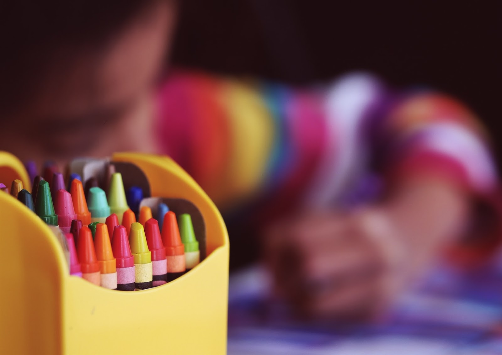 children's colouring crayons