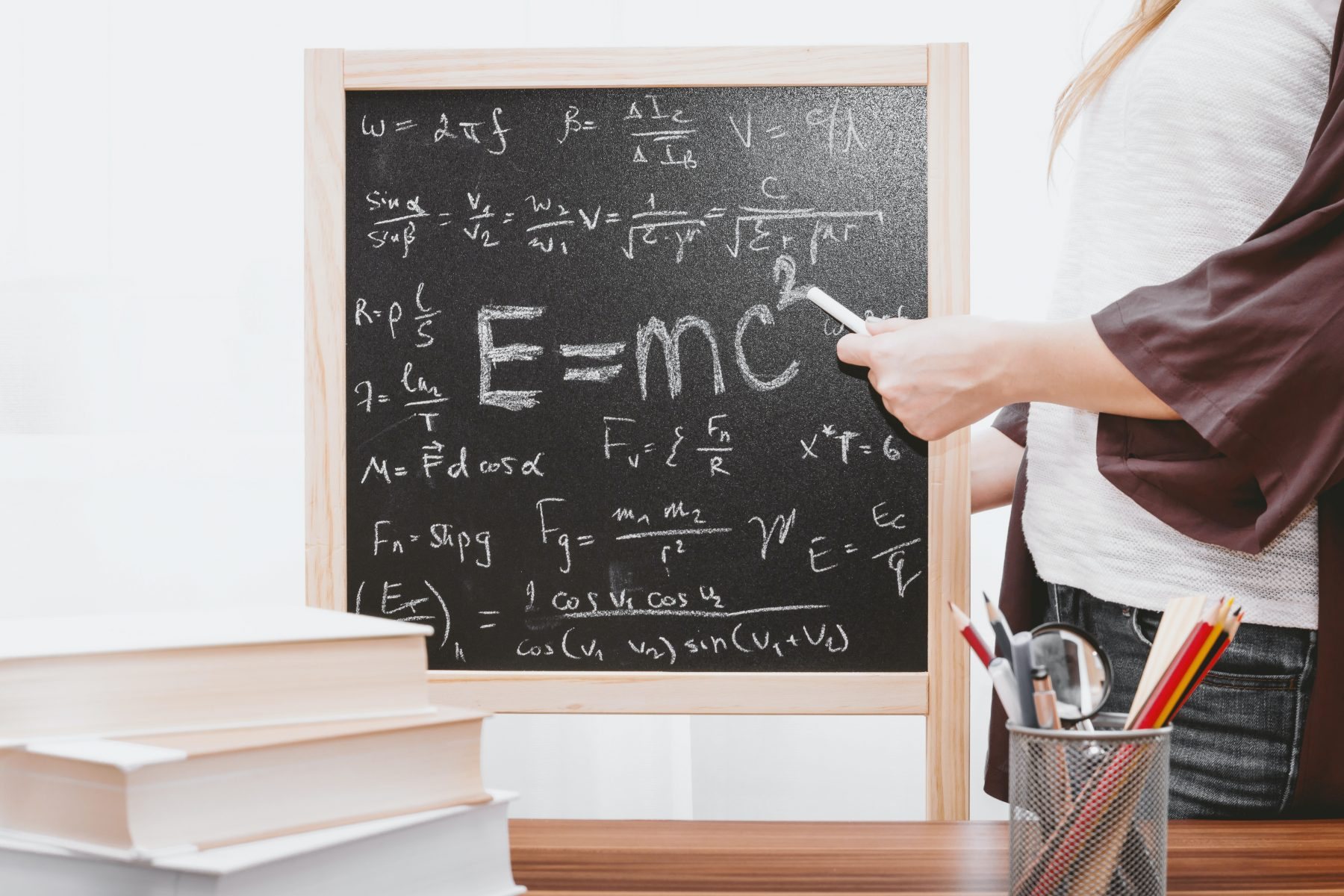 Creative maths activities chalkboard
